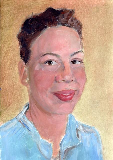 Acrylic Self-Portrait