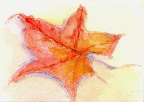 """2.5""""x3.5""""  watercolor"""