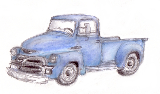 Every Day in May: Day 6 – Truck Sketch | See. Draw. Share.