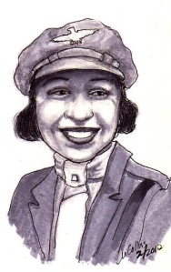 """Bessie Coleman drawing"""