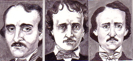 Trio of Poe Portraits