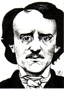 Edgar Allan Poe ink portrait